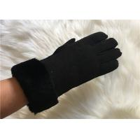 Best Handsewn Sheepskin Double Face Hand-stitched Glove Black Shearling Leahter gloves wholesale