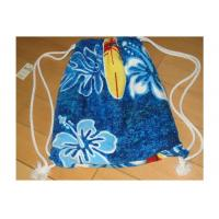 Best Portable Beach Towel Drawstring Bag Reactive Printing With Smooth / Dot Embossing wholesale