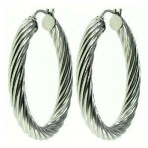 Best 3 Tone Stainless Steel Hoop Earrings Lead And Nickel Free For Party wholesale