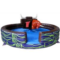 Best 2 Years Warranty Inflatable Riding Arena , Inflatable Sports Games With Rodeo Bull Ride Machine wholesale