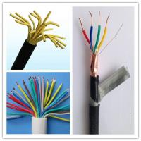 Cheap Multi Strand Cable Wire Copper Conductor Cable , 14 Gauge 4 Wire Shielded Stranded Control Wire BVVB Cable for sale