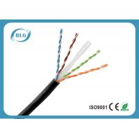 China Single PE Cat6 Network Ethernet Cable / 8 Core Copper Cat6 UTP Network Cable Black on sale