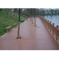 Cheap Balcony Wpc Composite Decking Boards , Wpc Outdoor Decking Customized Size for sale