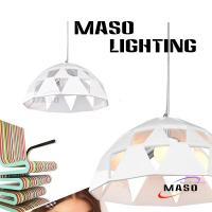 Creative Umbrella Shape Design Indoor Resin Pendant Lamp Red Color Energy Saving Power