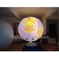 Best 170mm Tether Points Inflatable Lighting globe Balloon for Entertainment events wholesale