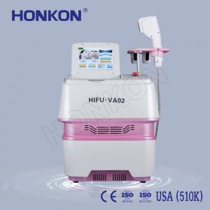 Best Portable Beauty Salon Use Wrinkle Removal HIFU Face Lifting Machine 0.1 - 2.2J/cm2 wholesale