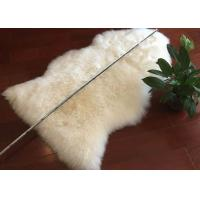 Best Single Pelt Cream Real Sheepskin Rug Smooth Wool With Extra Large Size wholesale