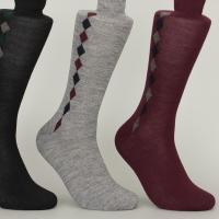 Best Organic Cotton Nylon Mens Argyle Dress Socks With Different Colors Custom Made Size wholesale