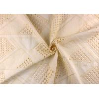 Buy cheap Allover Embroidered Eyelet Cotton Lace Fabrics With Hollowed Circle Lace Design from wholesalers