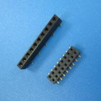 Buy cheap UL/ROHS 10 pin single row female socket pin header 1.27 mm spacing 1*10P female from wholesalers