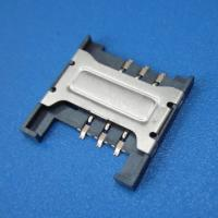 Best 6P SIM Card Connector , Full LCP Plastic SMT Type WIth Locking wholesale