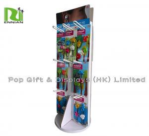 Best Free Standing Cardboard Spinner Display Racks Of Cute Ear Buds wholesale