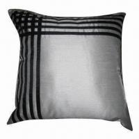 Best Fake suede patchwork cushion cover, made of faux silk wholesale