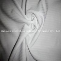 Buy cheap Polyester Mini Jacquard Knitting Fabrics White from wholesalers