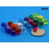 China Clear Colorful Plastic Push Pin Magnets , Cylinder / Ring Small Neodymium Magnets on sale