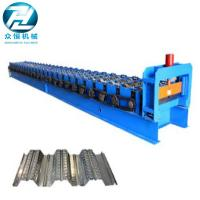 China 0.7-1.5 Thickness Roof Floor Deck Steel Roll Forming Machine For Construction on sale