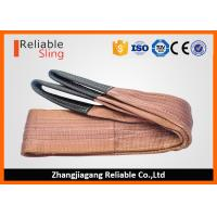 Best 6000 KG Polyester Webbing Lifting Slings Safety Factor 7-1 With Reinforced Loop Ends wholesale