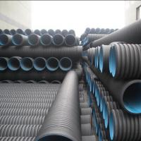 Best High quality and cheap DN110mm black HDPE Corrugated water Pipe wholesale