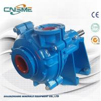 Best 6 / 4 E - AH Horizontal Metal Lined Slurry Pump for Mines in RAL5015 Color with Wooden Package wholesale
