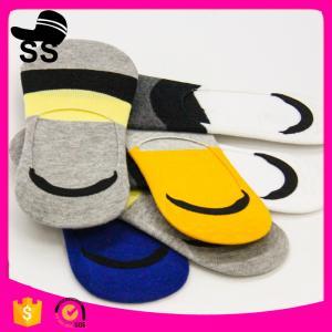 China 2017 Yiwu 69% Cotton 25 % polyester 6%Spandex Wholesale Distributors Knit Custom Elite Man Low Cut Men Winter Boat Socks on sale