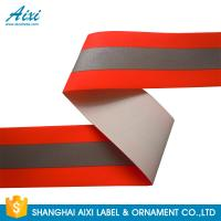 Best TID T / C Silver Orange Washable High Visibility Reflective Tape For Uniform wholesale