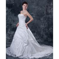 Best Customized Thick White Strapless Wedding Gowns for Spring , Summer , Fall , winter wholesale