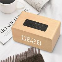 Best Wooden Wireless Alarm Clock Bluetooth Speaker Multi-functional Plug-in card Computer Speaker wholesale