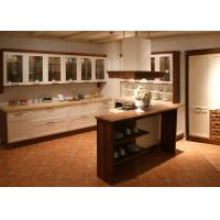 Silestone Countertop Solid Wood Kitchen Furniture , Bright White Closeout Kitchen Cabinets