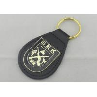 Best SEK Leather Key Chain Iron Personalized Leather Keychains With Brass Plating wholesale
