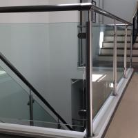 Cheap Factory Price Customized Design Stainless Steel Handrail Indoor Tempered Glass Balcony Railing for sale