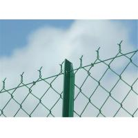 Best Rectangle PVC Coated Chain Link Fence Galvanized PVC Coated Wire Mesh Fencing wholesale