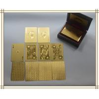 Best 24k gold plated playing cards set in box poker deck 99.9% gold gift fathers day wholesale