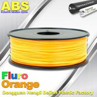 Best Eco Friendly ABS 3D Printer Filament 1.75mm Fluro Orange 3D Printing Filament wholesale