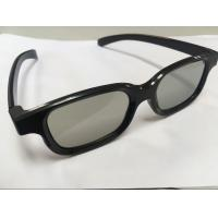 China Reusable Plastic Circular Polarized 3D Glasses For Movie Theater With Anti Scratch Lens on sale