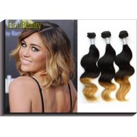 Best 12 Inch To 28 Inch Colored Human Hair Extensions / Peruvian Body Wave Bundles wholesale
