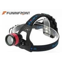 Best CREE T6 Outdoor LED Headlamp /  3 Gears Zoom Helmet lights Using AA Battery wholesale