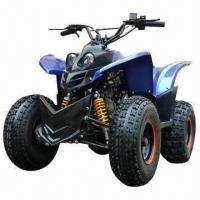 China Electric ATV with Single-cylinder, 110cc Capacity, 4 Strokes and Forced Air-cooled Engine Type on sale