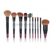 Best 10 pcs Custom Professional Makeup Brush Set With Nature Hair And Duel Colors Wood Handle wholesale