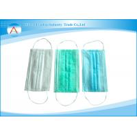China Disposable 3 Ply Surgical Face Mask Ear-Loop Or Tie On With Different Colors on sale