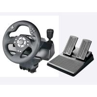 Best Car Video Game Steering Wheel Controller Dual Vibra ABS Material For P3 / P2 / PC wholesale