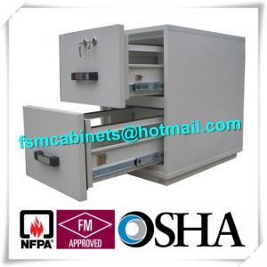 Best Steel Fireproof Waterproof File Cabinet Two Drawer Lockable 2 Hours Fire Rating wholesale