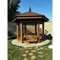 Best Plastic wood composite waterproof ready assembled hexgonal gazebo for garden in Kuwait wholesale