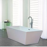 Best Narrow Edge Portable Acrylic Freestanding Bathtub With End Drain Lightweight wholesale