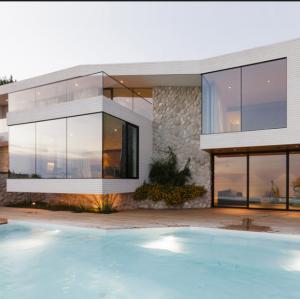 Best Foshan aluminium alloy casement window with fixed window wholesale