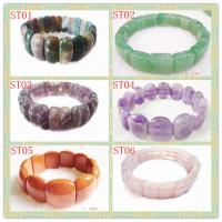 Best Stone Material, Fashion Charm Natural Gemstone Bracetes Semi Precious Gem Jewelry wholesale