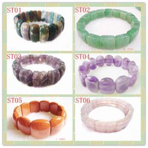 Cheap Stone Material, Fashion Charm Natural Gemstone Bracetes Semi Precious Gem for sale