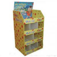 Buy cheap Customized Printed Cardboard Floor Displays For Clothing , Glossy / Matte from wholesalers