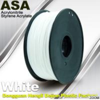 Best White ASA Filament / Anti Ultraviolet 1.75mm Filament For 3D Printer wholesale