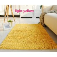 Best Yellow Living Room Handmade Tufted Polyester Chenille Microfiber Area Rug wholesale