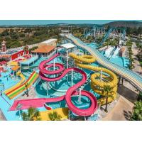 Best Colorful Fiberglass Swimming Pool Water Slides Durable Playground Equipment wholesale